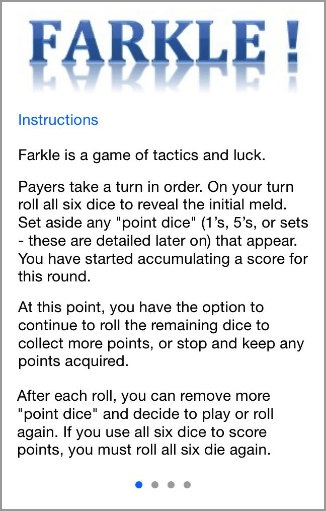 rules of farkle dice game